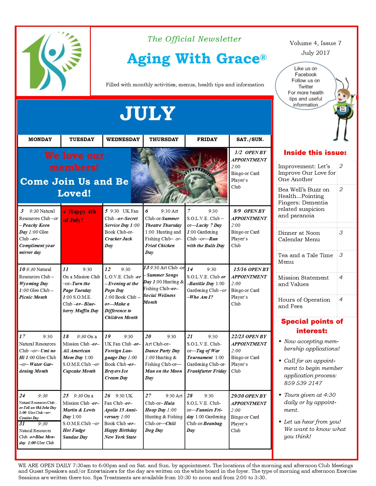 Aging With Grace Newsletter July 2017 (2)